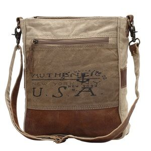 NWT LEATHER & CANVAS USA BAG